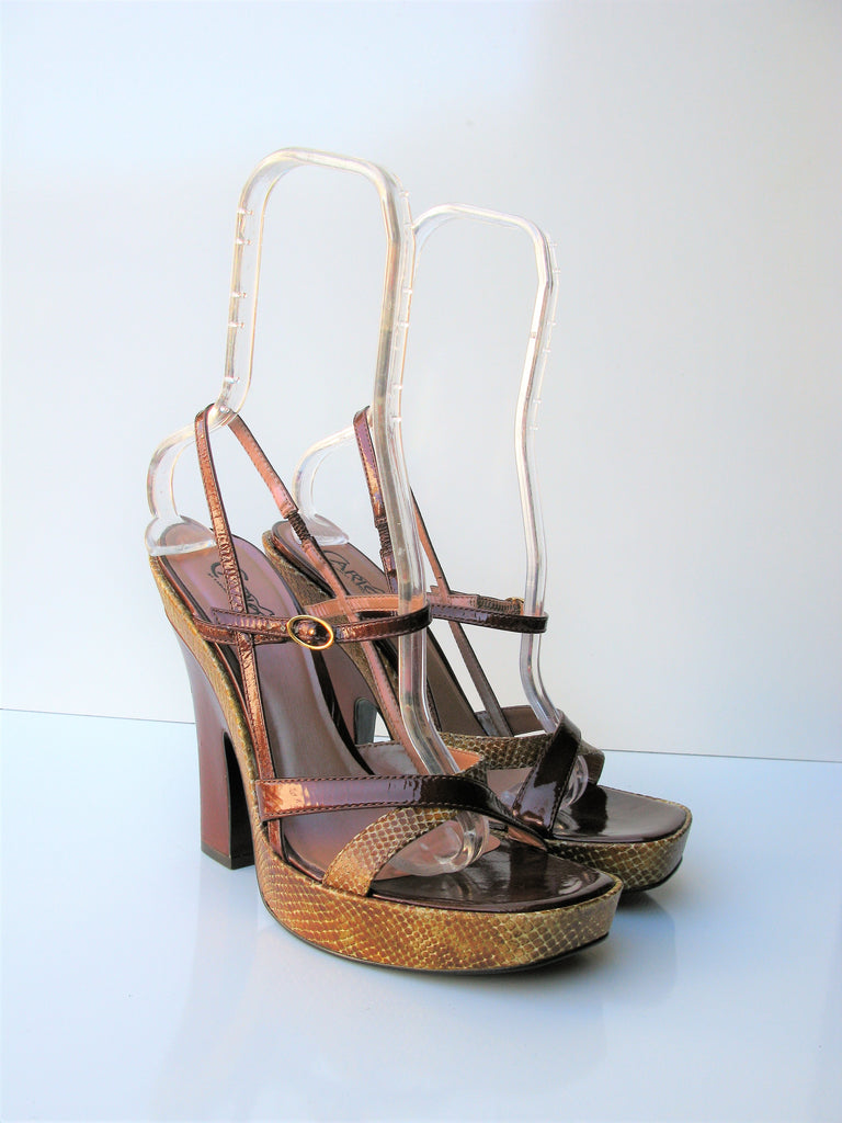 Carlos by Carlos Santana 'Launch' Platform Block Heel Sandals NWOB