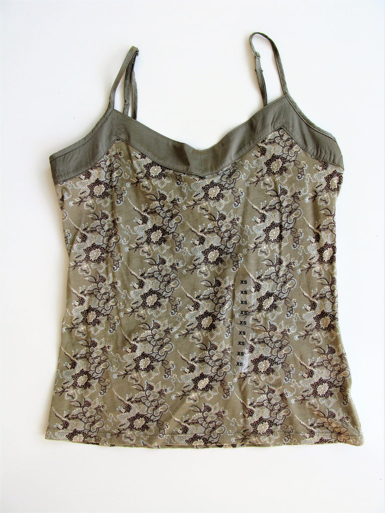 Gap Cotton Wool & Silk Trim Tank Camisole XS NWT