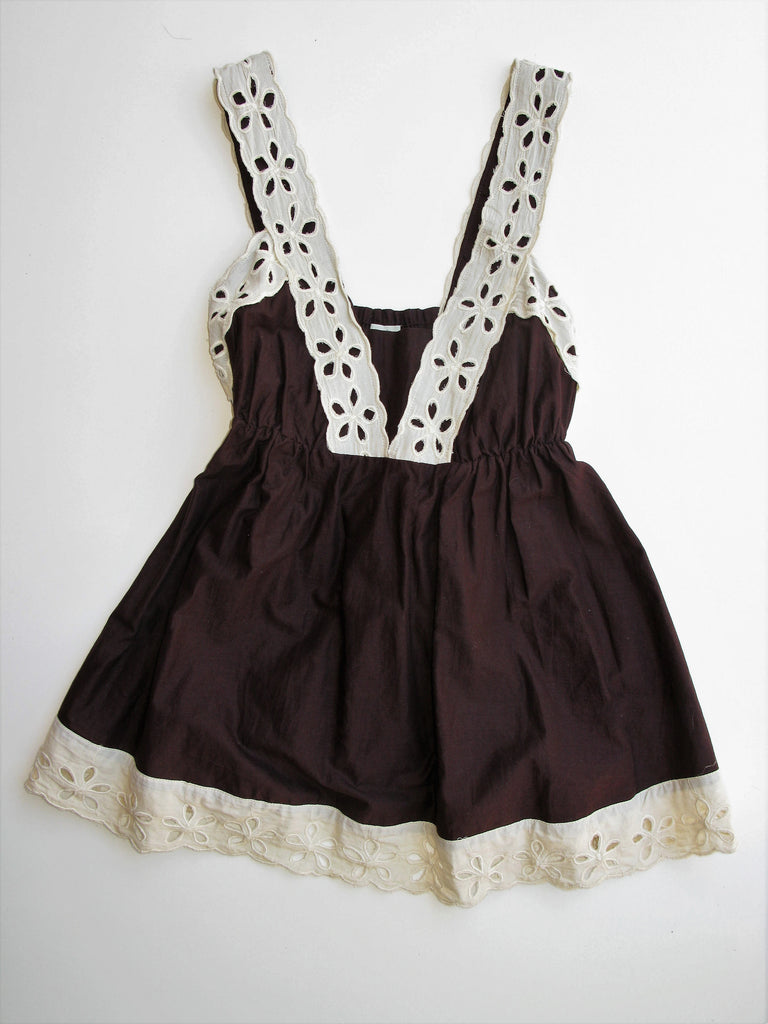 Anthropologie Odille Baby Doll Eyelet Camisole Top 4
