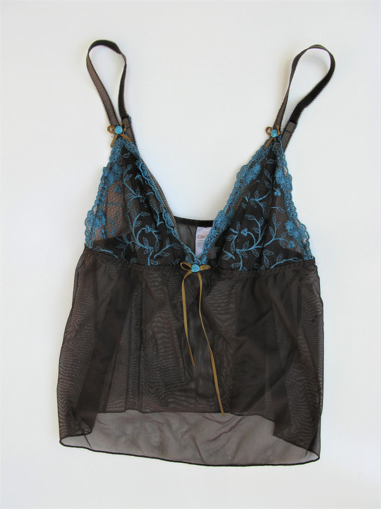DKNY Chocolate Brown Floral Camisole S