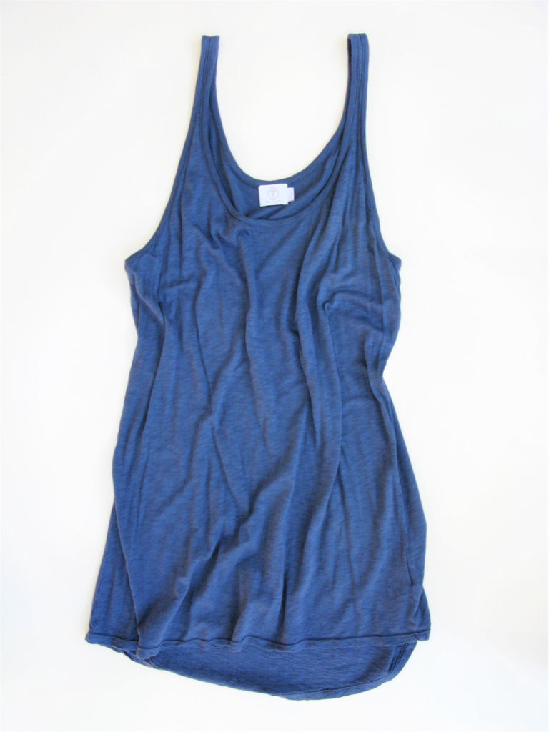 T- Los Angeles Long Cotton Slub Knit Tank L