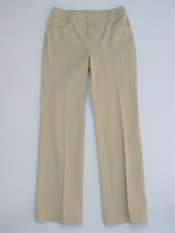 St. John Yellow Label Marie Straight Leg Stretch Chino 4 NWT