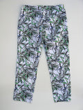 Saint Tropez West Leaf Print Capri Pants 4 NWOT - ruby & sofia