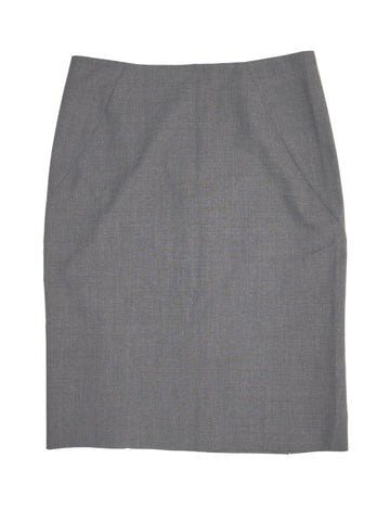 Theory Golda Tailor Grey Stretch Wool Career Skirt 6 NWOT