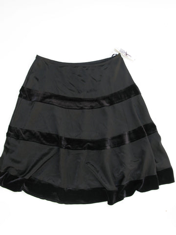 La Nuit Satin & Velvet Circle Skirt 14 NWT