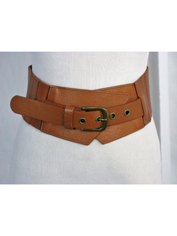 "Rough Roses 3"" Leather Waist Cinch Belt S"