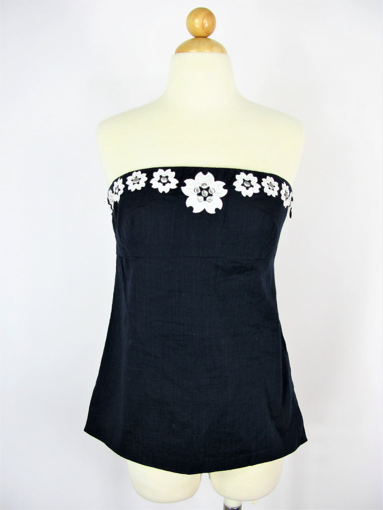 J. Crew Floral Applique & Embroidered Strapless Top 4