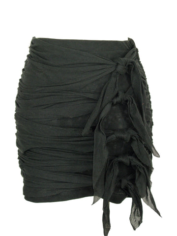 Joie Pique Cotton Knotted Ruched Pirate Mini Skirt S - WE LOVE IT!!
