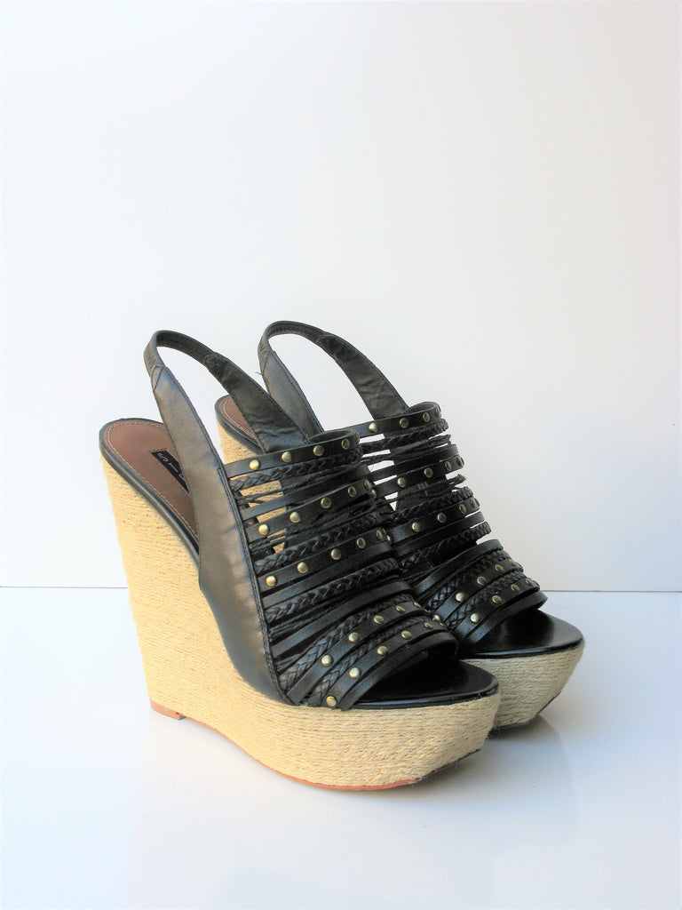 Steven by Steve Madden 'Breannaa' Wedge Caged Sandal 9.5 NWOB