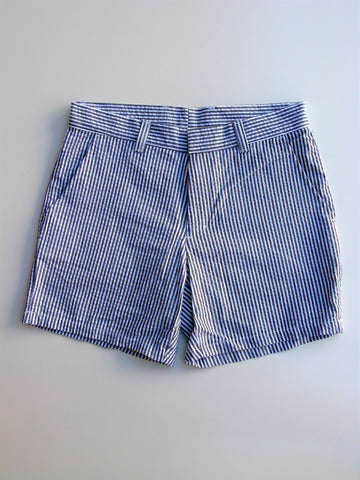 American Apparel Kennedy Seersucker Unisex Walking Shorts 27 NWOT