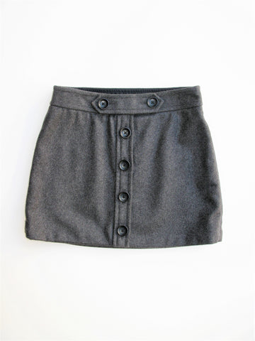 60's Style Gap Wool Button Mini Skirt 0