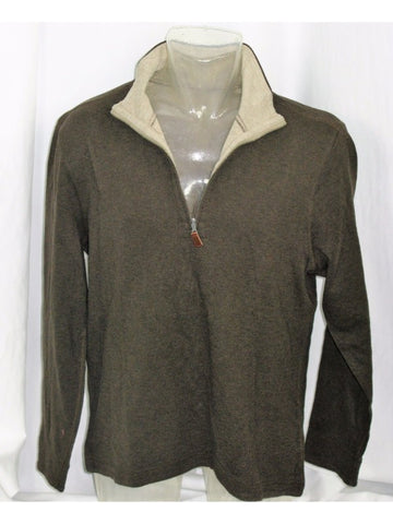 Banana Republic 1/2 Zip Cotton Stretch Pullover L