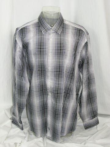 TailorByrd Abstract Check Button Down Sport Shirt XXL NWT