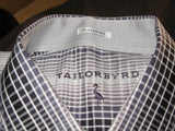 TailorByrd Abstract Check Button Down Sport Shirt XXL NWT - ruby & sofia
