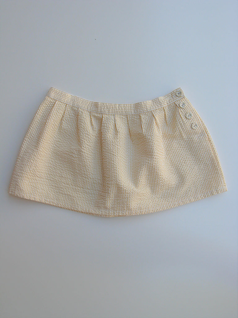 Heritage Yellow & White Stripe Seersucker Mini Skirt 5