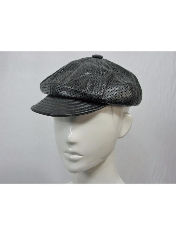 TLS Euro Cap Newsboy Perforated Leather Spitfire Cap S NWOT