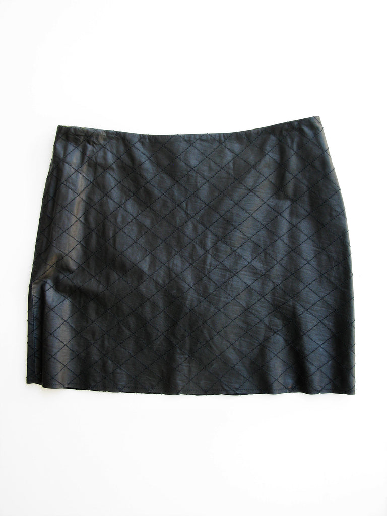 Alice + Olivia 'Brigitta' Quilted Leather Mini Skirt 2 NWOT