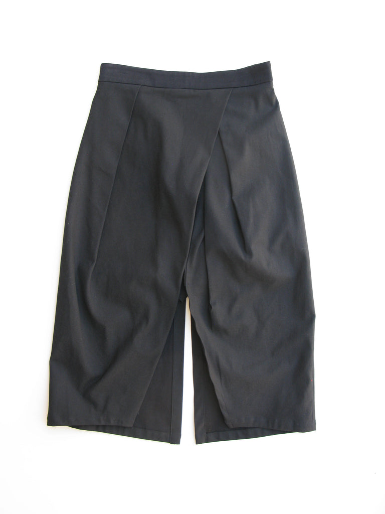 High Slit/ Split Stretch Pleated Pencil Skort - Very Unique - S