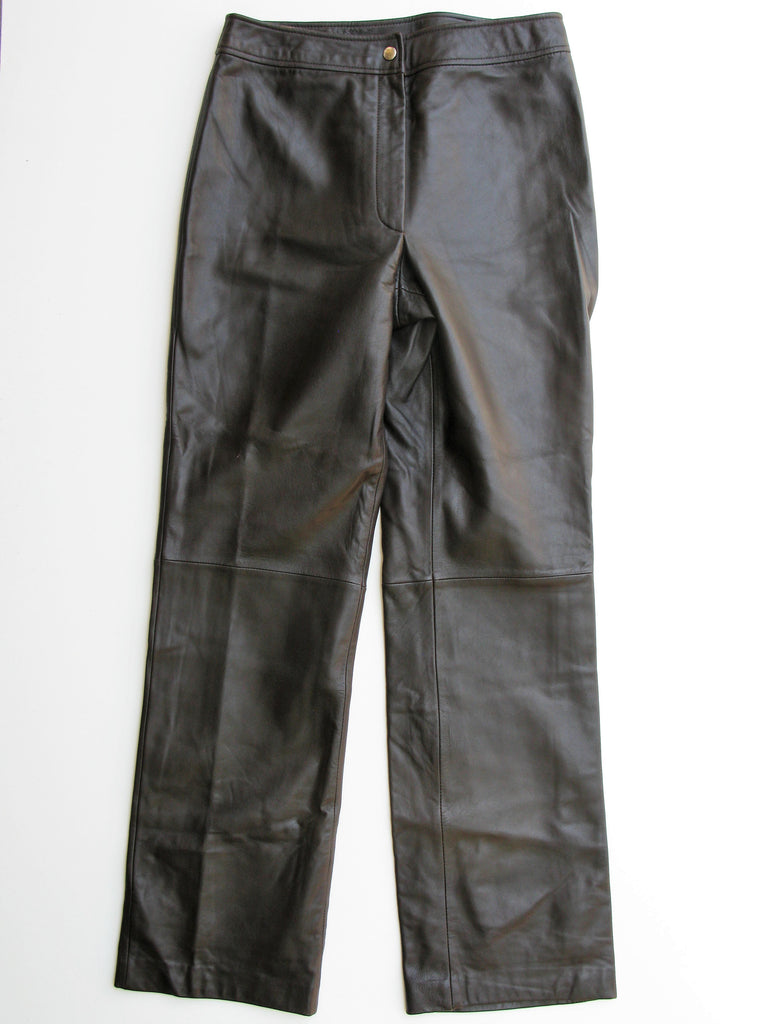 Classiques Entier Chocolate Brown Soft Supple Leather Pants 8