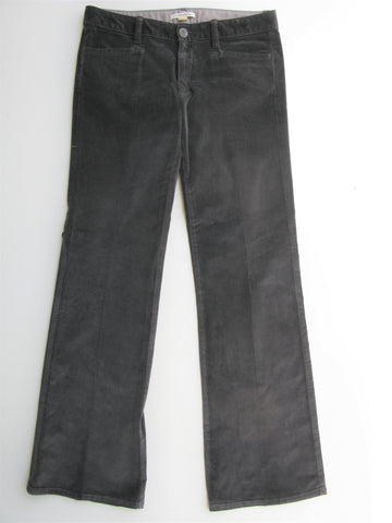 Banana Republic Grey Light Flare Corduroy Trousers Pants 29