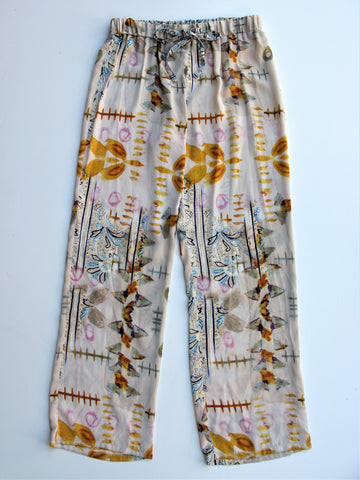 Eloise For Anthropologie Carmelita Lounge Sleep Pants in Natural XS NWOT