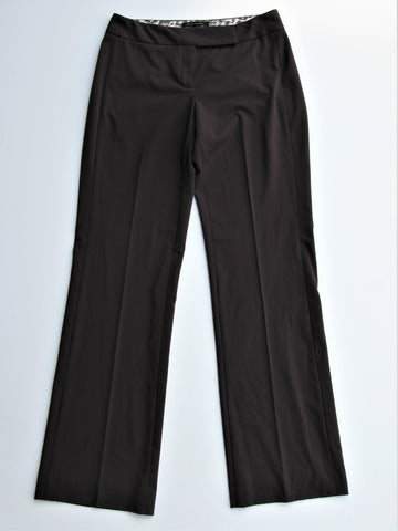 Elie Tahari Emi Pant Trousers in Bittersweet Chocolate Brown 4 NWT