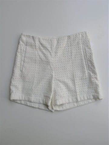 H&M Cream Eyelet High Waist Shorts NWOT