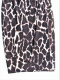 Vintage Gianfranco Ferre Giraffe Print Wool Knit Wrap Pencil Skirt 6/8