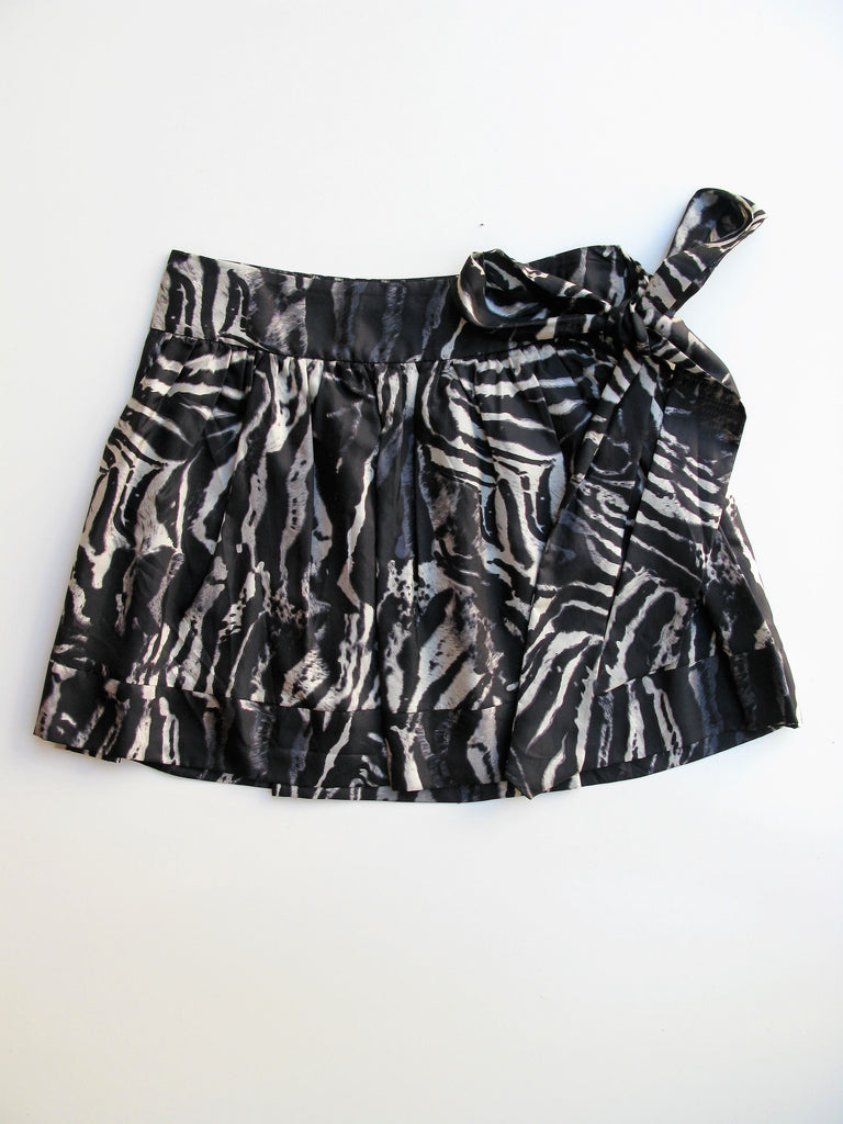 Express Design Studio Silk Gathered Mini Skirt 4