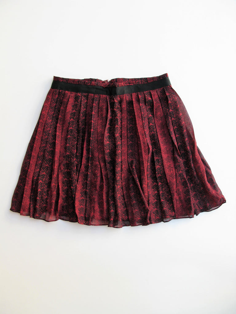 Club Monaco Accordion Pleated Silk Skirt 6