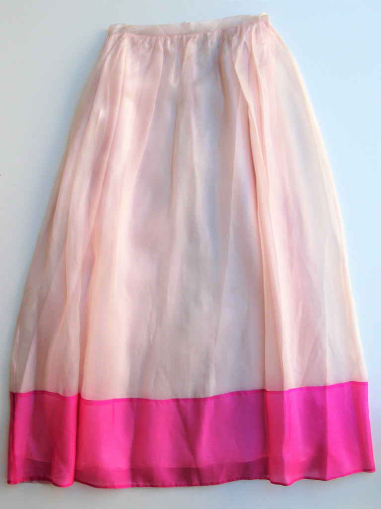 Lynn Lugo Silk Chiffon Formal Skirt 2