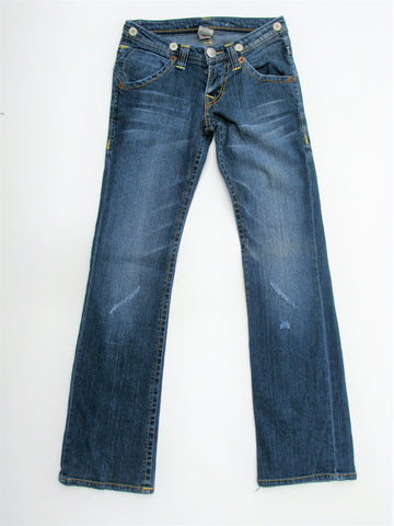 True Religion Joey Big T Low Rise Boot-Cut Jeans 25