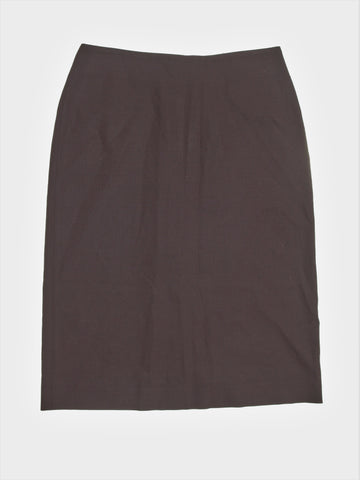 Calvin Klein Collection - Made in Italy - Chocolate Brown Stretch Wool Pencil Skirt 4