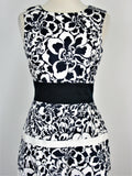 Anne Klein Floral Print Tiered Fit & Flare Sleeveless Dress 2 NWOT