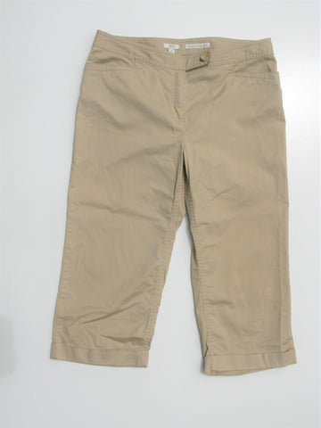 J. Jill Genuine Fit Below Waist Cuffed Cropped Chinos 12