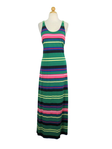 Mavi Striped Racerback Tank Maxi Dress L