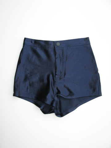 American Apparel 'The Disco' High Waist Satin Short Shorts S