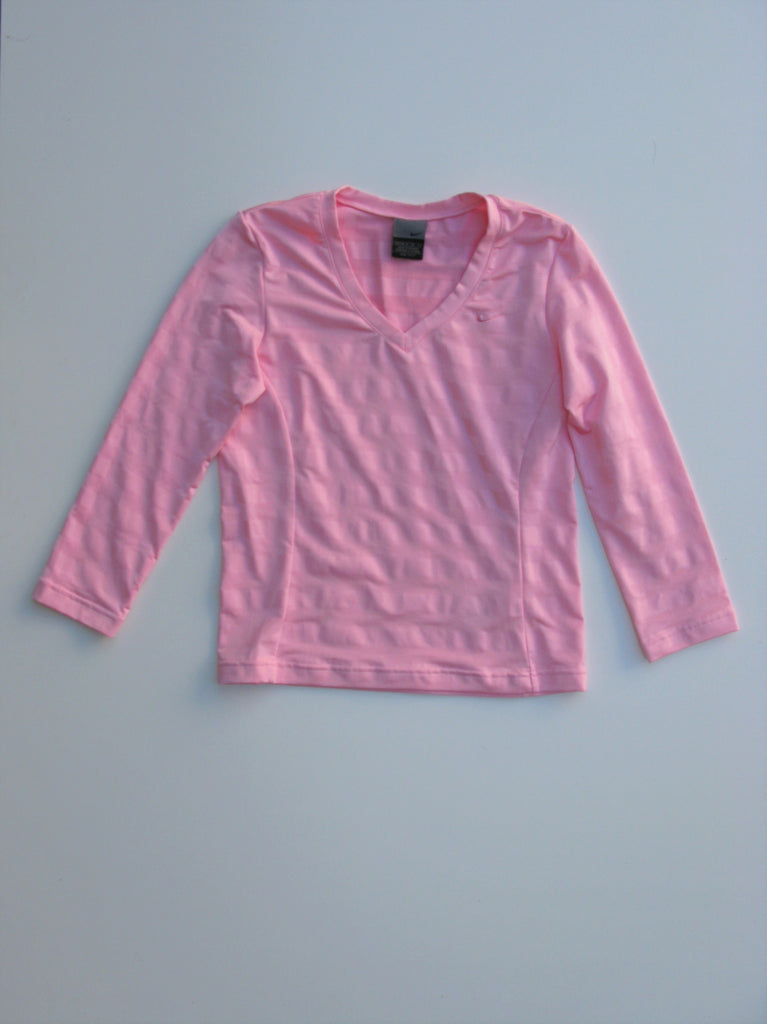 Nike Illusion Stripe Bubblegum Pink Work Out Top S