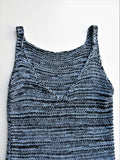 Zara Long Open Stitch V Back Stretchy Knit Tank Tunic M
