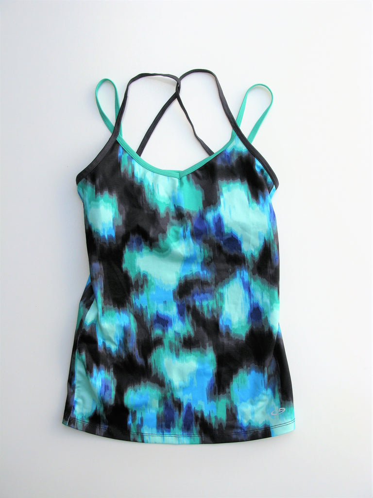 Champion Strappy Abstract Print Workout Yoga Top XS