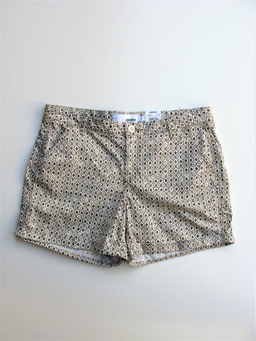 Sonoma Printed Cuffed Stretch Cotton Walking Shorts 16 NWT