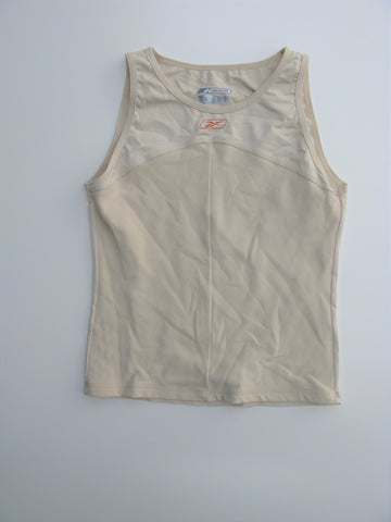 Reebok Play Dry Sleeveless Ribbed Workout Yoga Top M