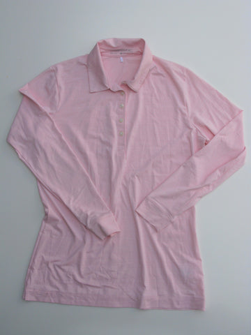 Ladies Pink Nike Golf Dri Fit Shirt M Tall NWOT
