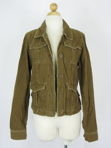 Abercrombie & Fitch Distressed Retro Vintage Style Corduroy Jacket L