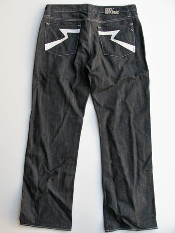 Rock & Republic Neil Black Wash Button Fly Jeans 36