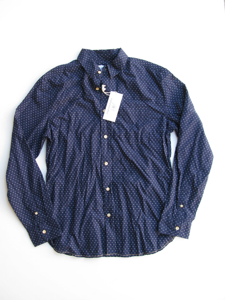 Surfside Supply Company Long Sleeve Dot Dobby Woven Shirt NWT