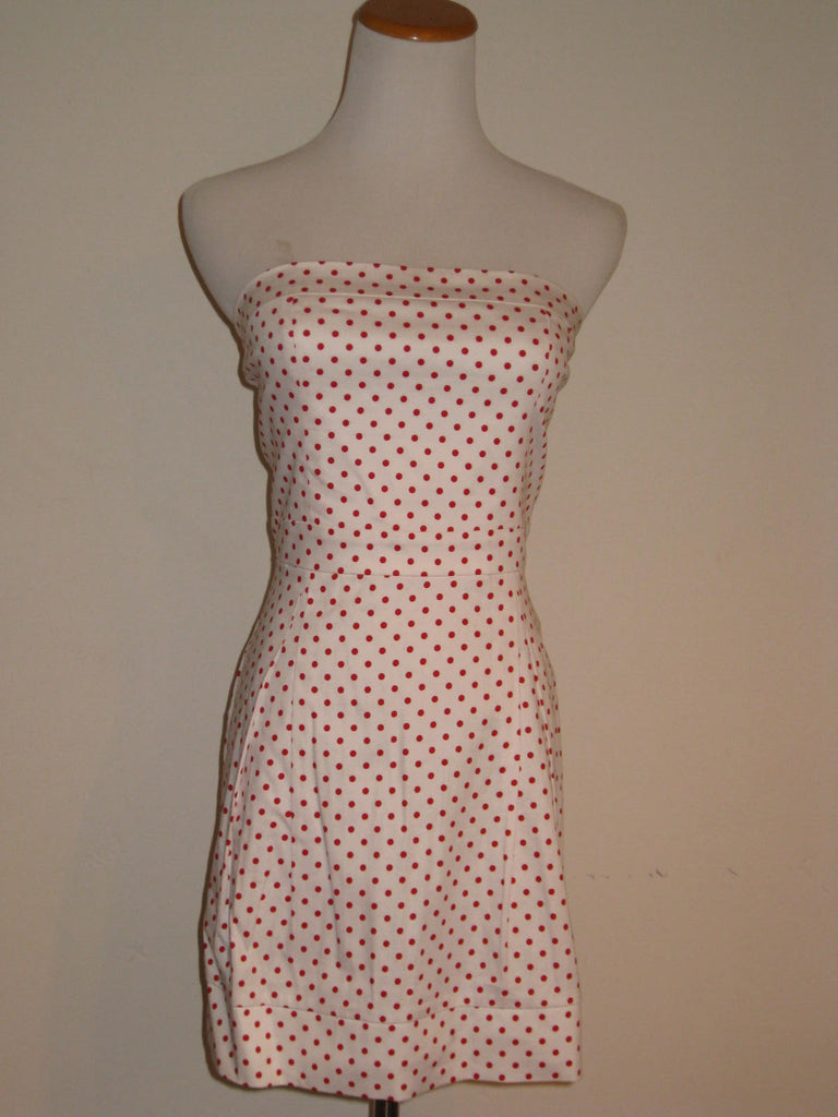 Althea Anthropologie Polka Dot Strapless Mini Dress S NWT - ruby & sofia