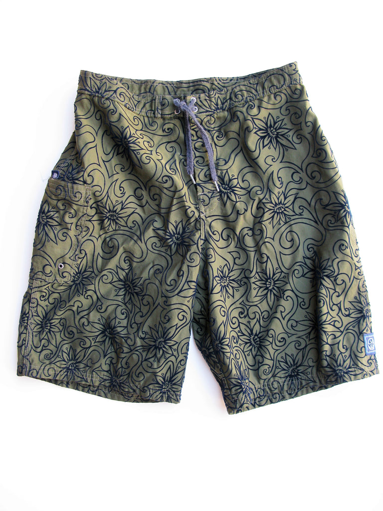 Hic Hawaiian Island Creations Ocean Driven Board Shorts 32