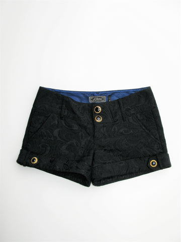 Guess Authentic Brand Black Brocade Dress Shorts 26