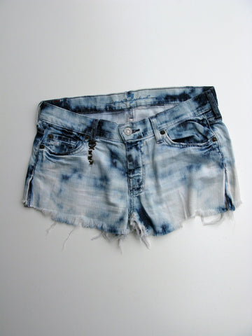 7 For All Mankind Bleached Out Totally Destroyed Cut-off Jeans to Shorts 27